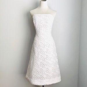 Lilly Pulitzer  beautiful white strapless dress